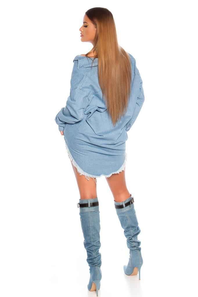 Джинсовая рубашка-платье KC3029, 5