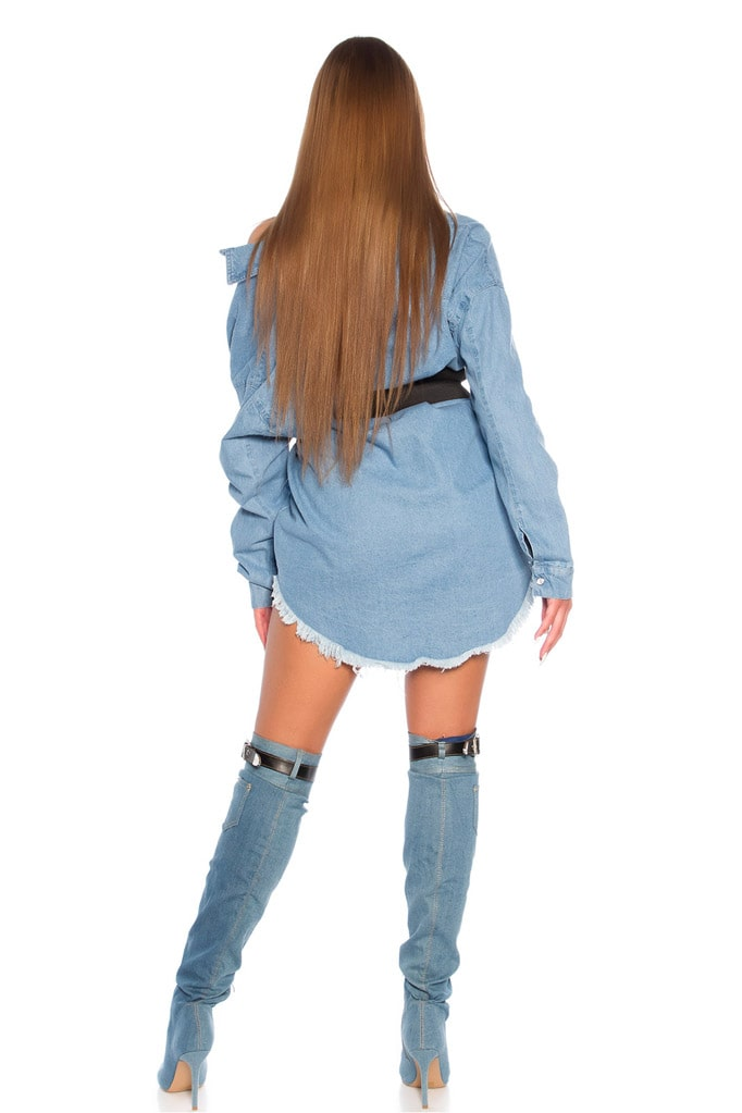 Джинсовая рубашка-платье KC3029, 7