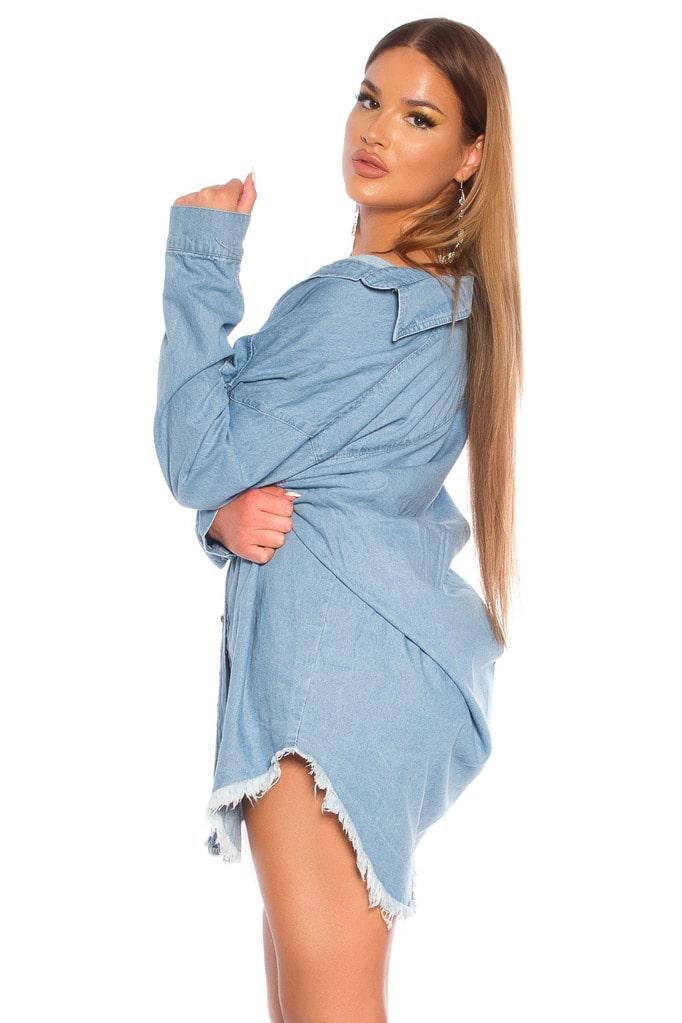 Джинсовая рубашка-платье KC3029, 15