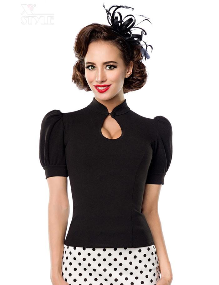 Женская черная блуза B187, 9