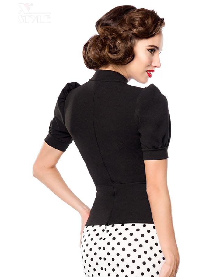 Женская черная блуза B187, 3