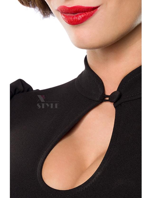 Женская черная блуза B187, 7