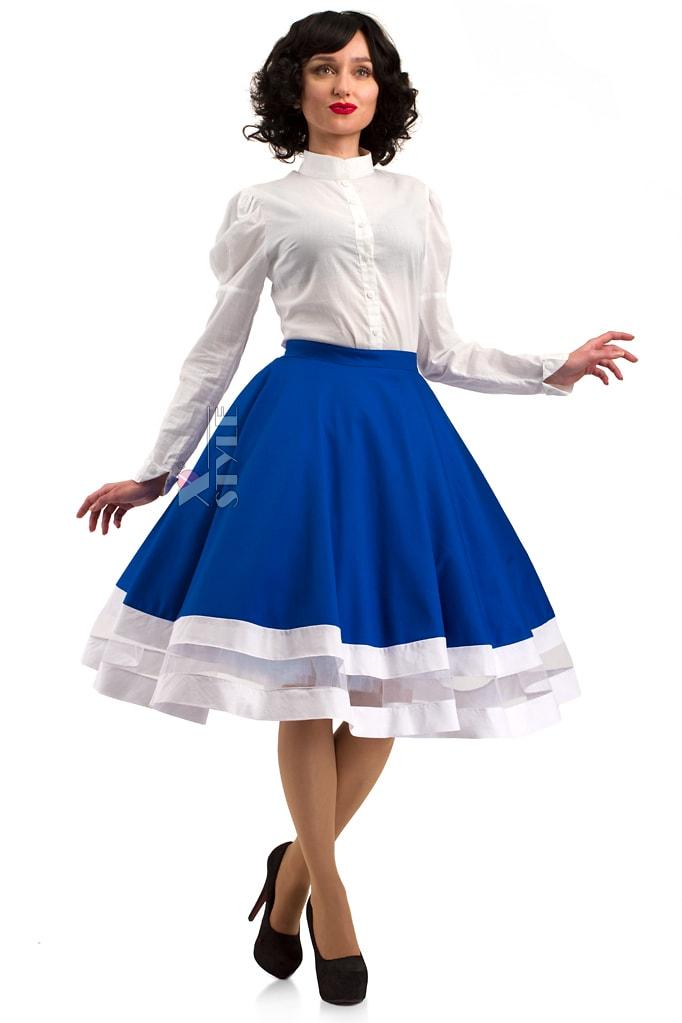 Винтажная белая блуза X-Style, 7