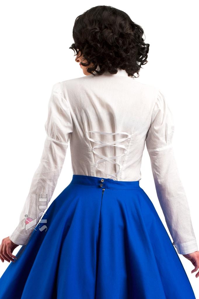 Винтажная белая блуза X-Style, 3