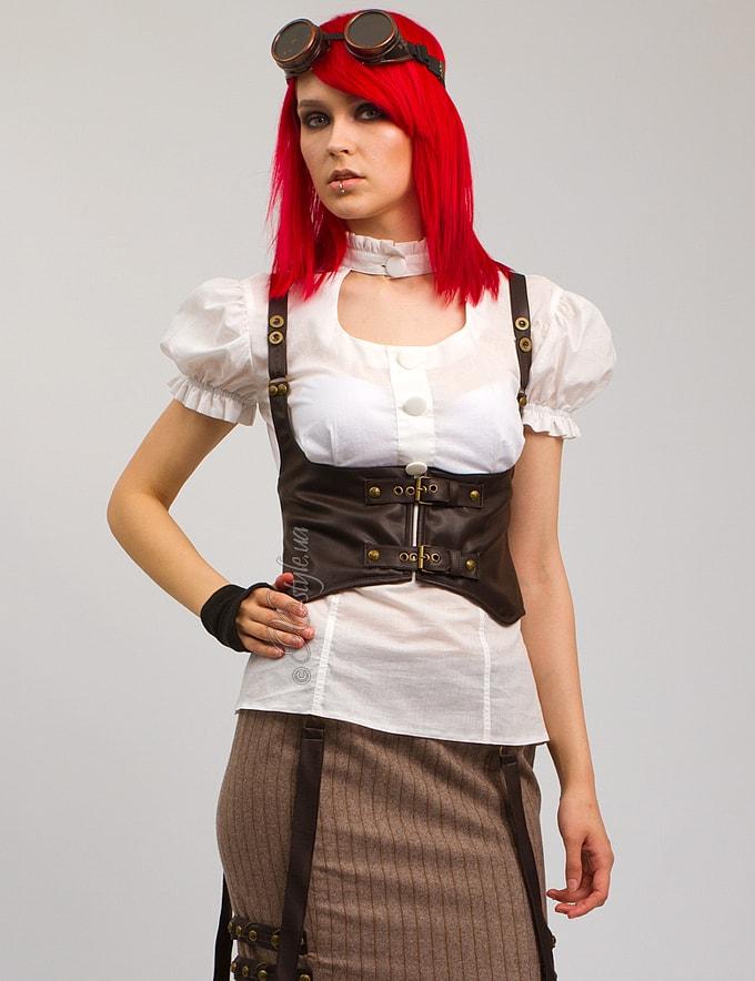 Белая блузка с декольте X-Style, 3