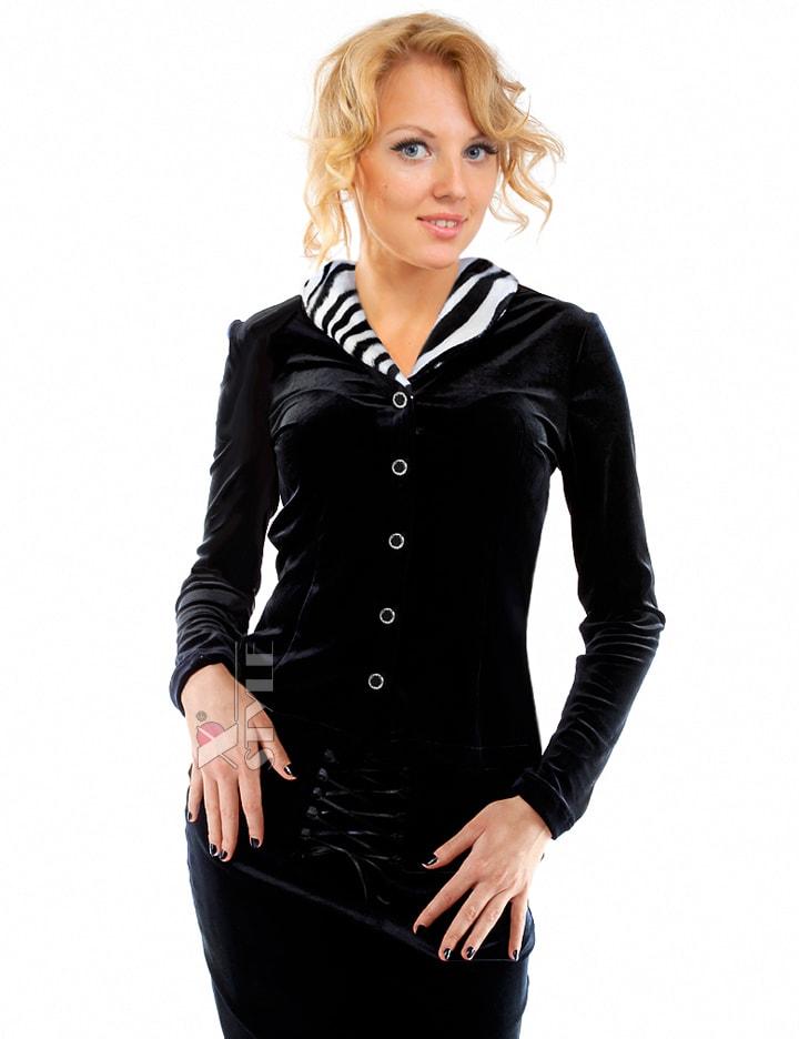 Блузка с мехом в стиле Ретро, 5