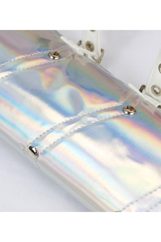 Серебристое болеро с одним рукавом X4122, 11