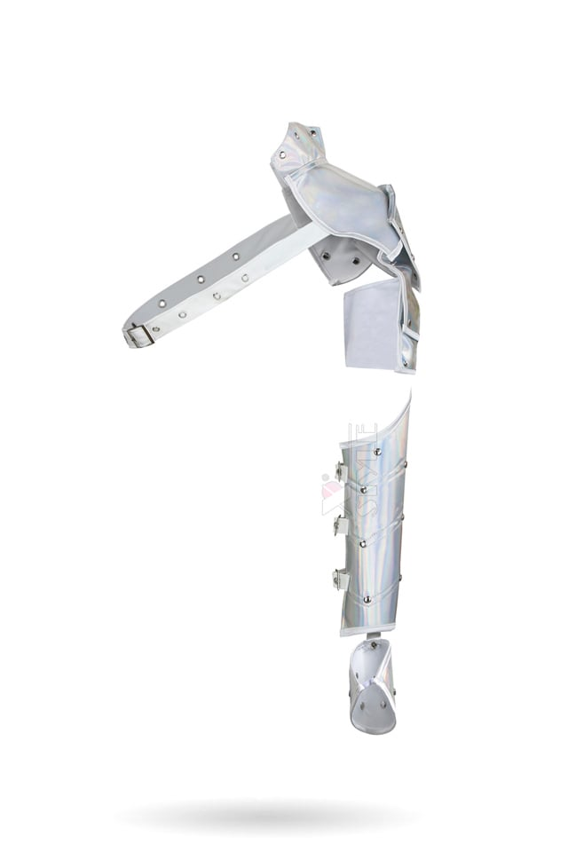Серебристое болеро с одним рукавом X4122, 9