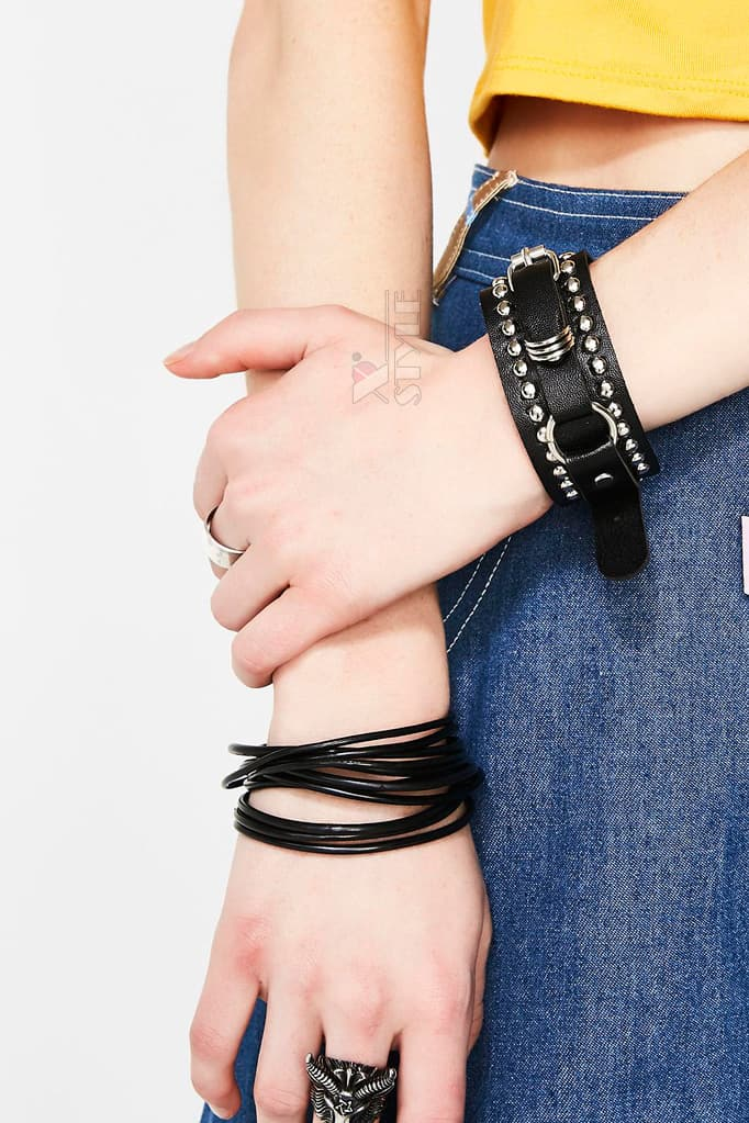 Кожаный браслет-ремешок XJ139, 7
