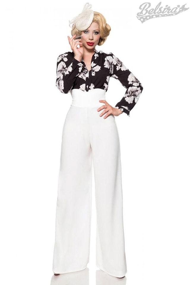 Белые широкие женские брюки Belsira