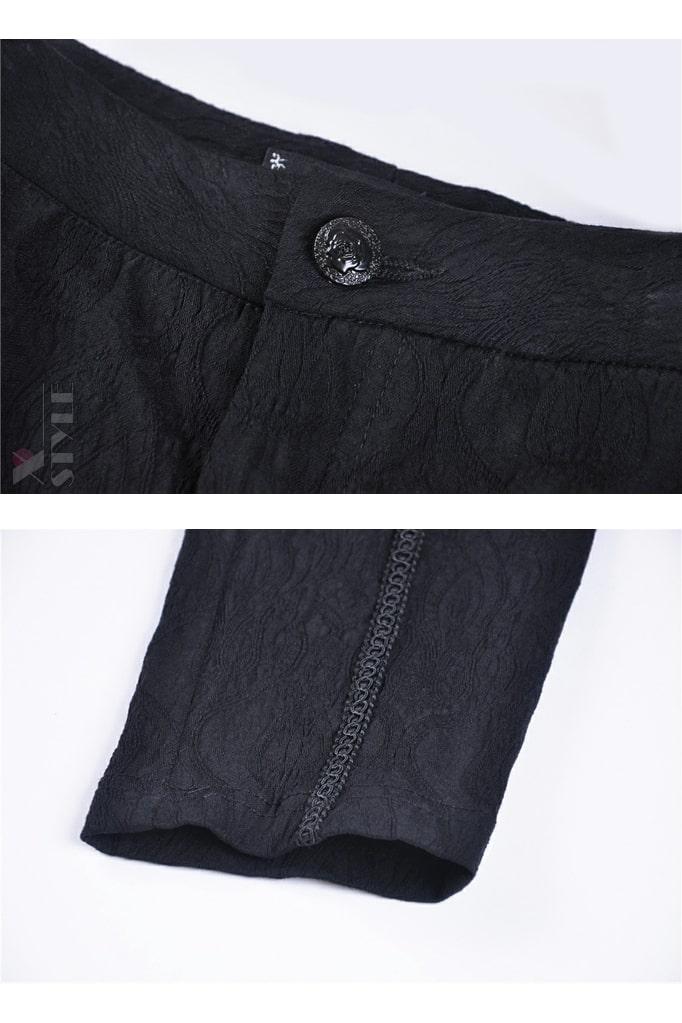 Брюки с жаккардовым узором и вышивкой спереди D8114, 13