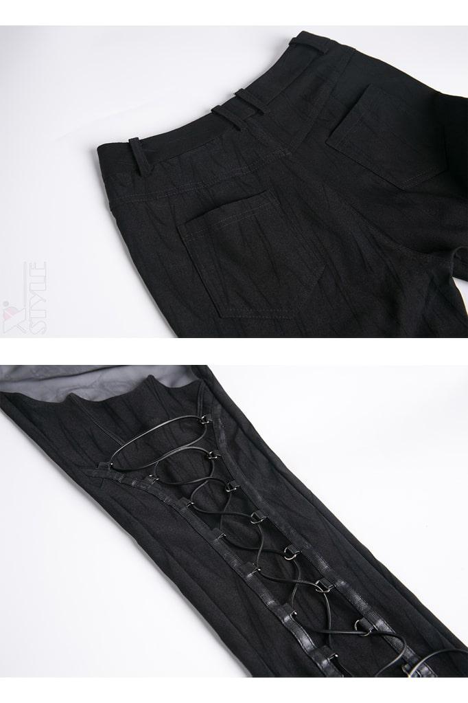 Брюки-ботфорты со шнуровкой и сеточкой DL115, 19