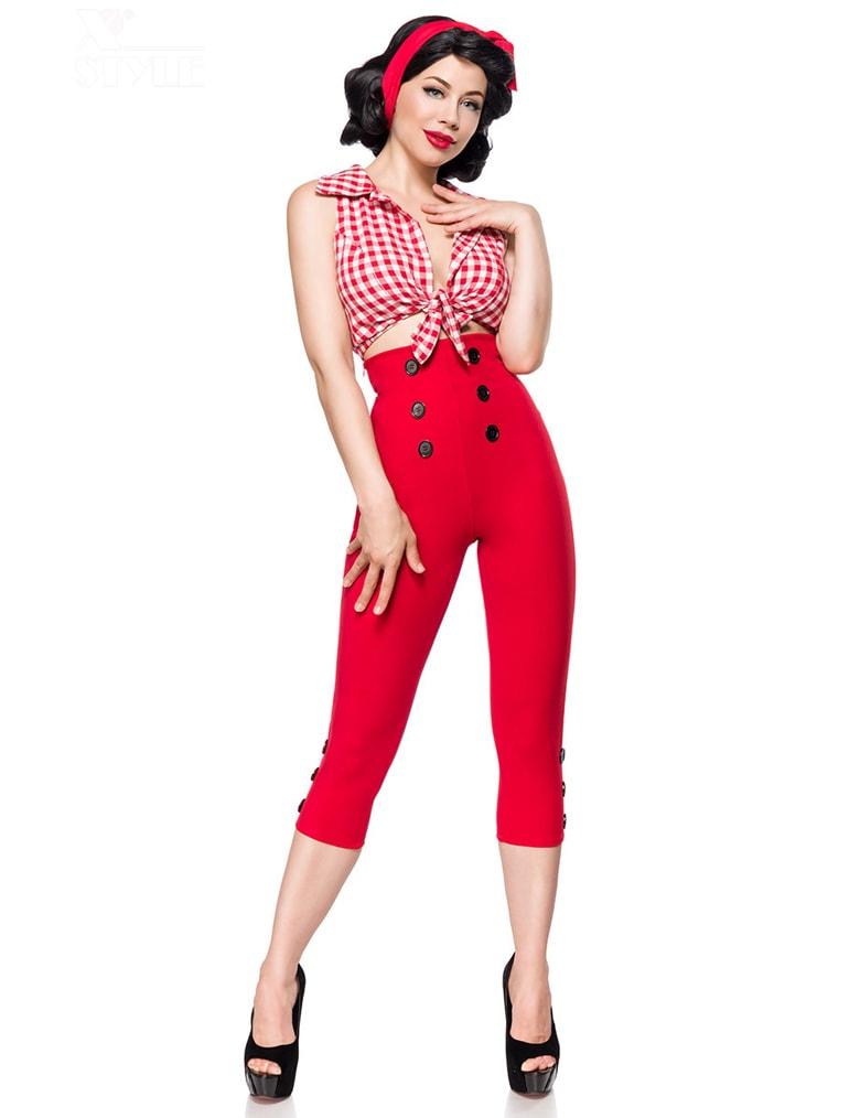 Красные брюки в стиле Ретро, 9