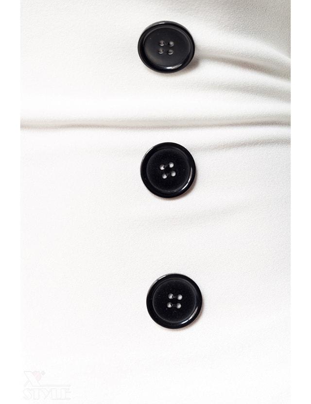 Белые брюки с высокой талией 057, 3