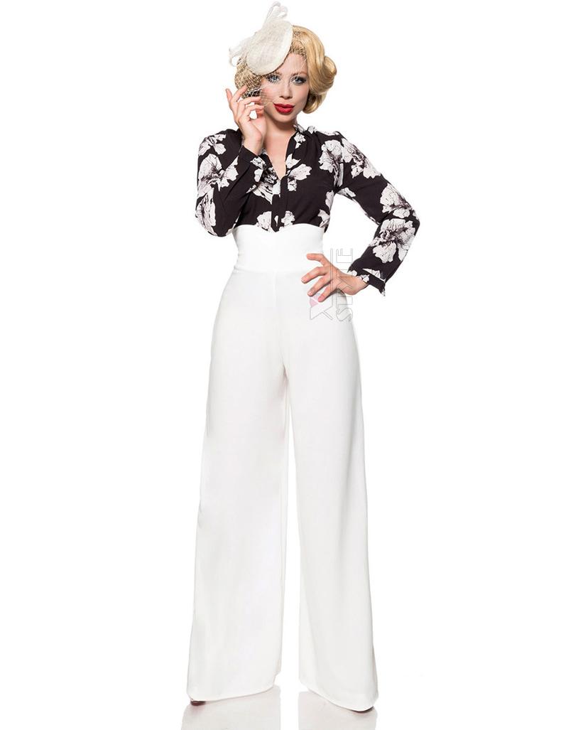 Белые широкие женские брюки Belsira, 9