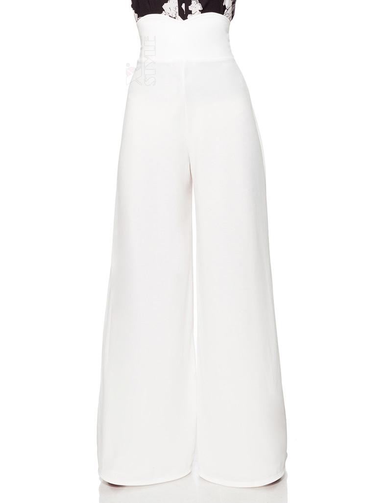 Белые широкие женские брюки Belsira, 3