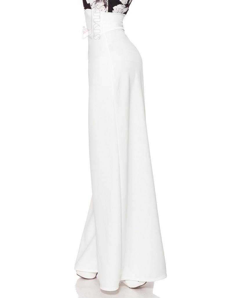 Белые широкие женские брюки Belsira, 7