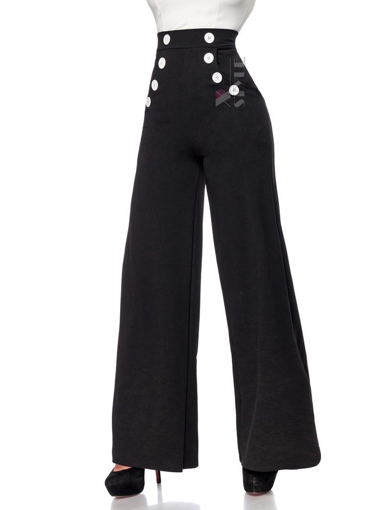 Широкие брюки с карманами и высоким поясом, 7