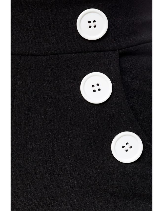 Широкие брюки с карманами и высоким поясом, 11