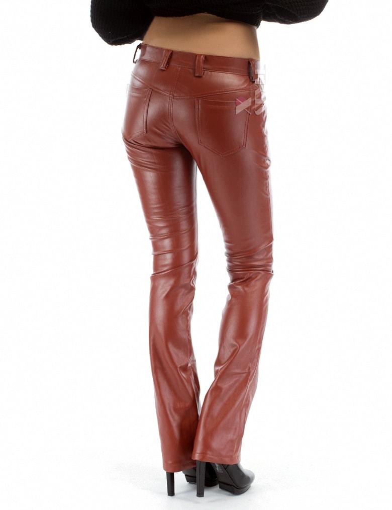 Кожаные брюки на флисе, 3