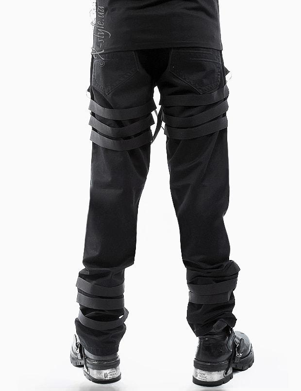 Мужские брюки с пряжками, 3