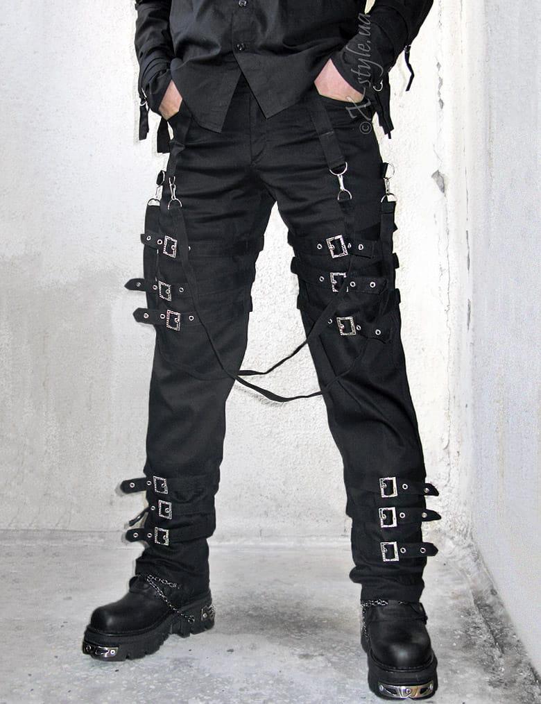 Мужские брюки с пряжками, 5