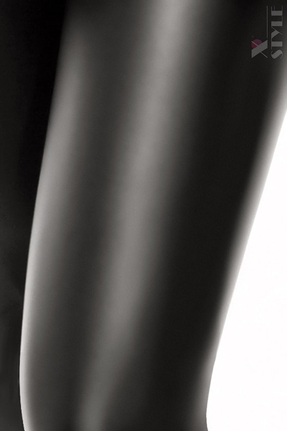 Черный кэтсьюит под кожу X-Style, 5