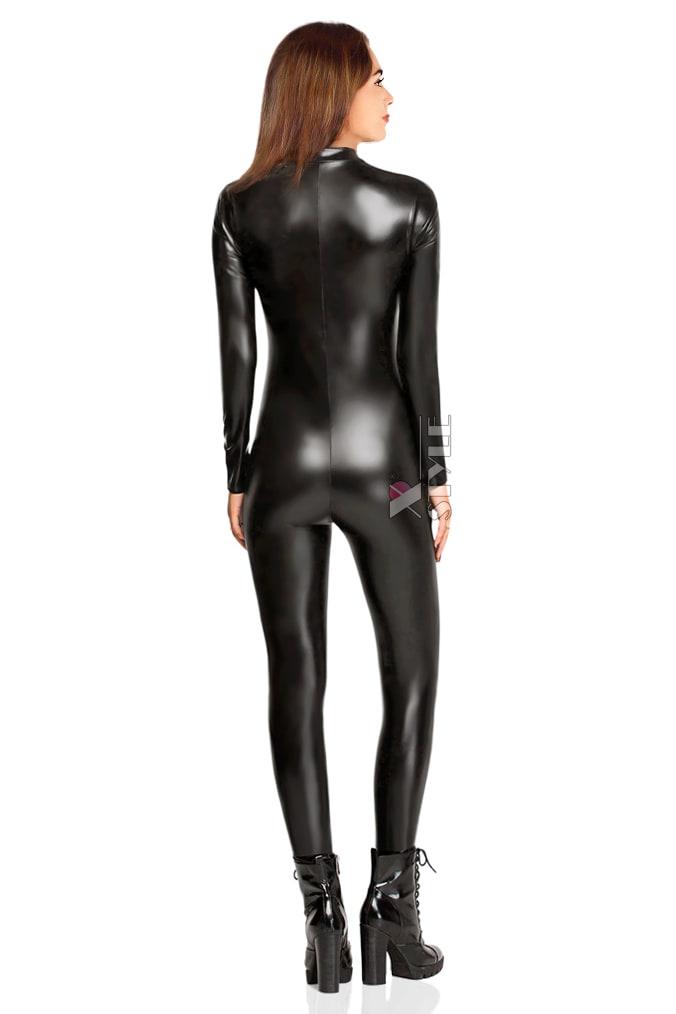 Черный кэтсьюит под кожу X-Style, 3