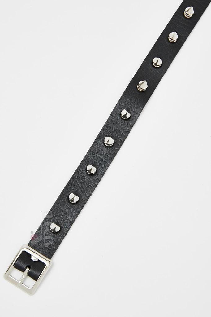 Кожаный чокер с шипами XJ6230