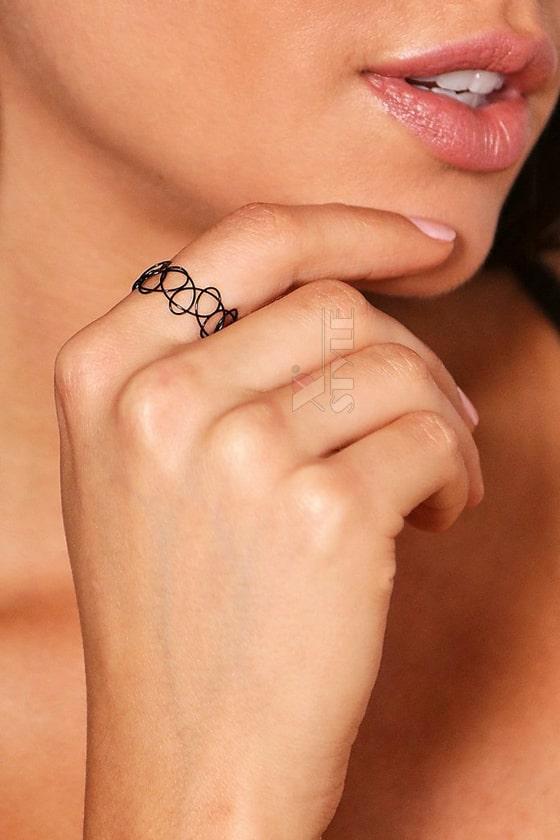 Ожерелье-чокер с браслетом и кольцом XJ7002, 5