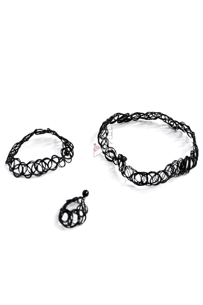 Ожерелье-чокер с браслетом и кольцом XJ7002, 3