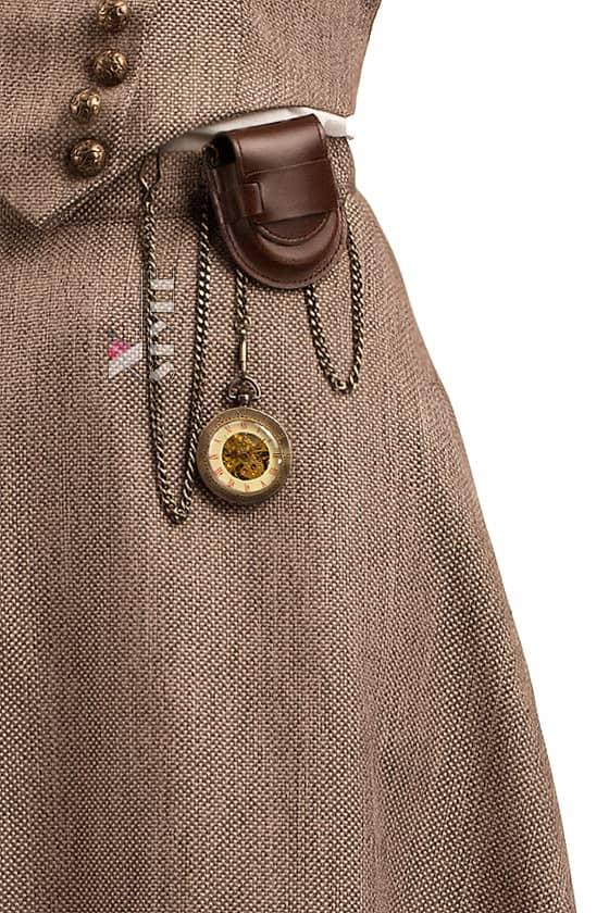 Юбка Steampunk с навесным карманом и часами X7202, 3