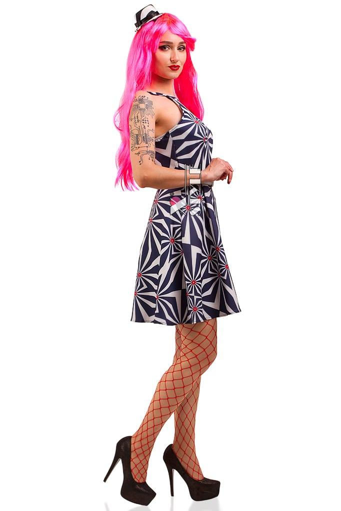 Платье Candy Girl с поясом и шляпкой, 3