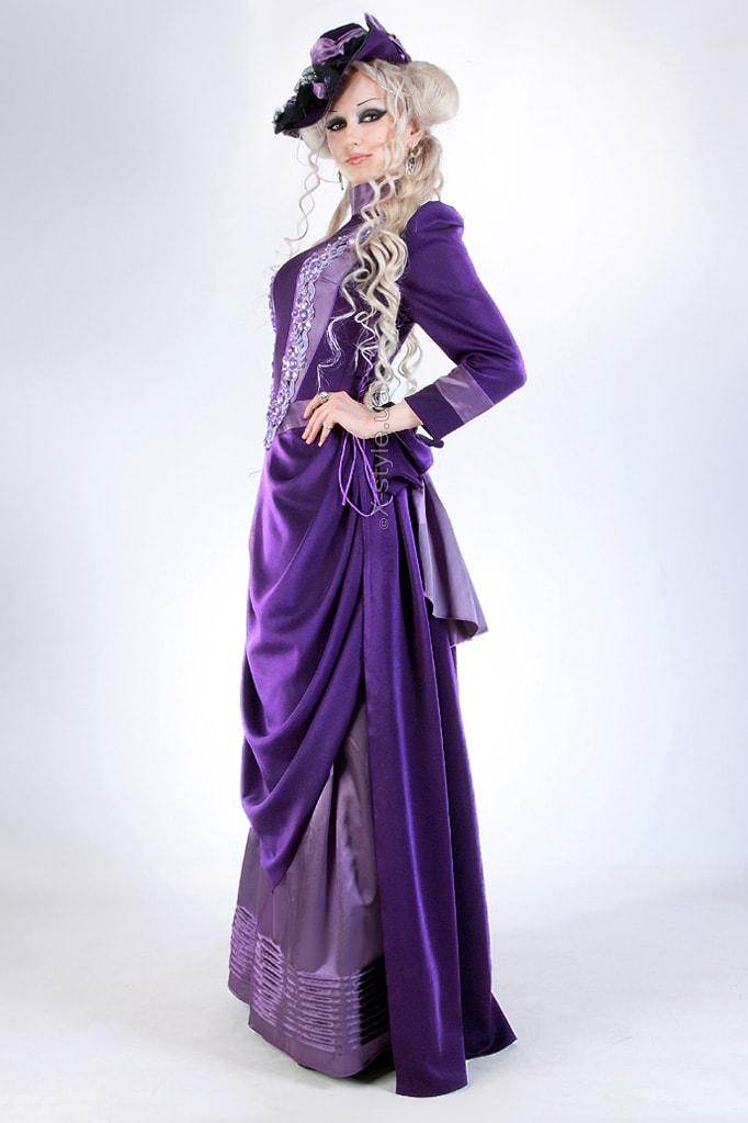 Прогулочное платье в стиле конца 19 ст., 5