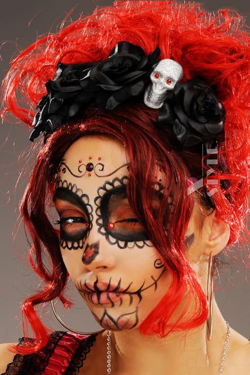 Обруч с черными розами La muerte