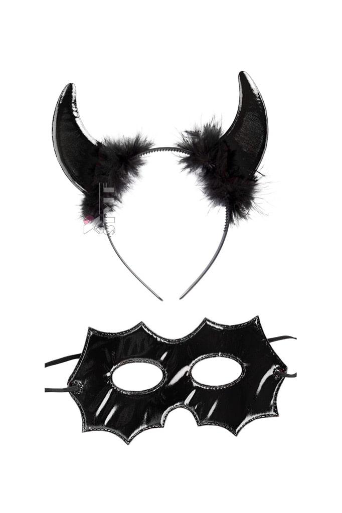 Набор аксессуаров демона (рога и маска) Cosplay Couture, 3