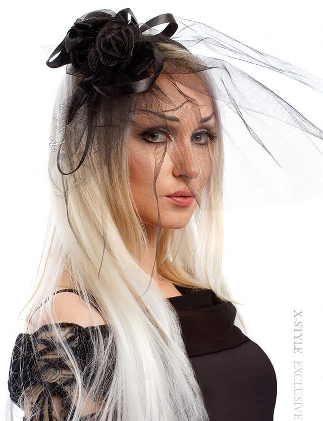 Обруч с вуалью и розами Xstyle accessories