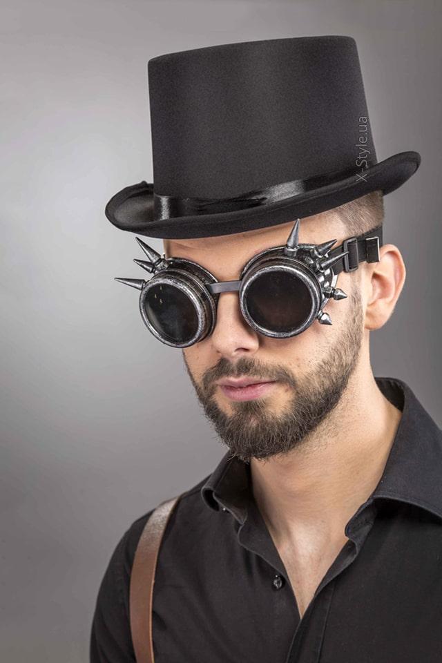Мужская шляпа-цилиндр и гогглы CC1147, 3