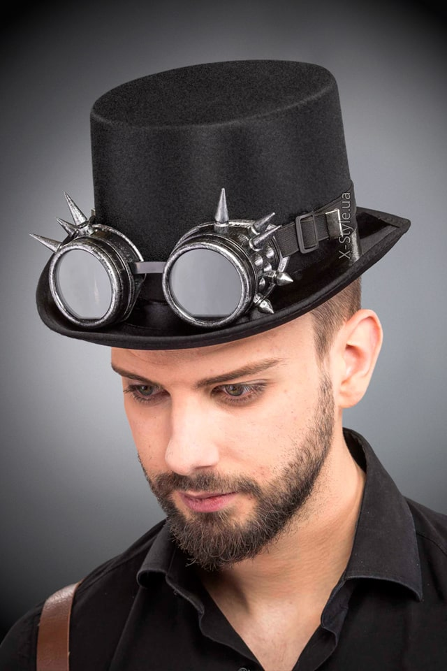Мужская шляпа-цилиндр и гогглы CC1147