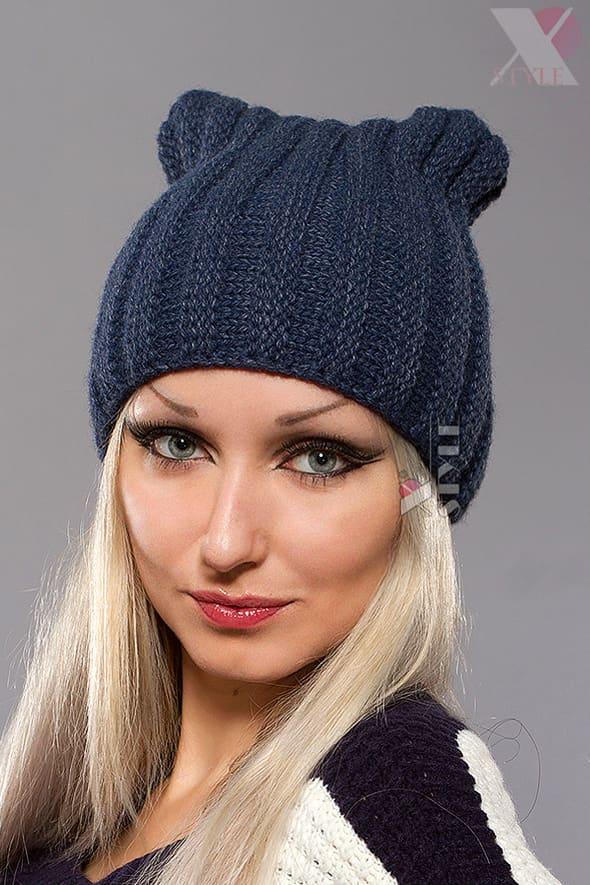 Зимняя шапка с ушками кошки XA2050