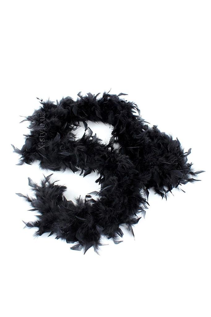 Черное боа из перьев XTC210, 5