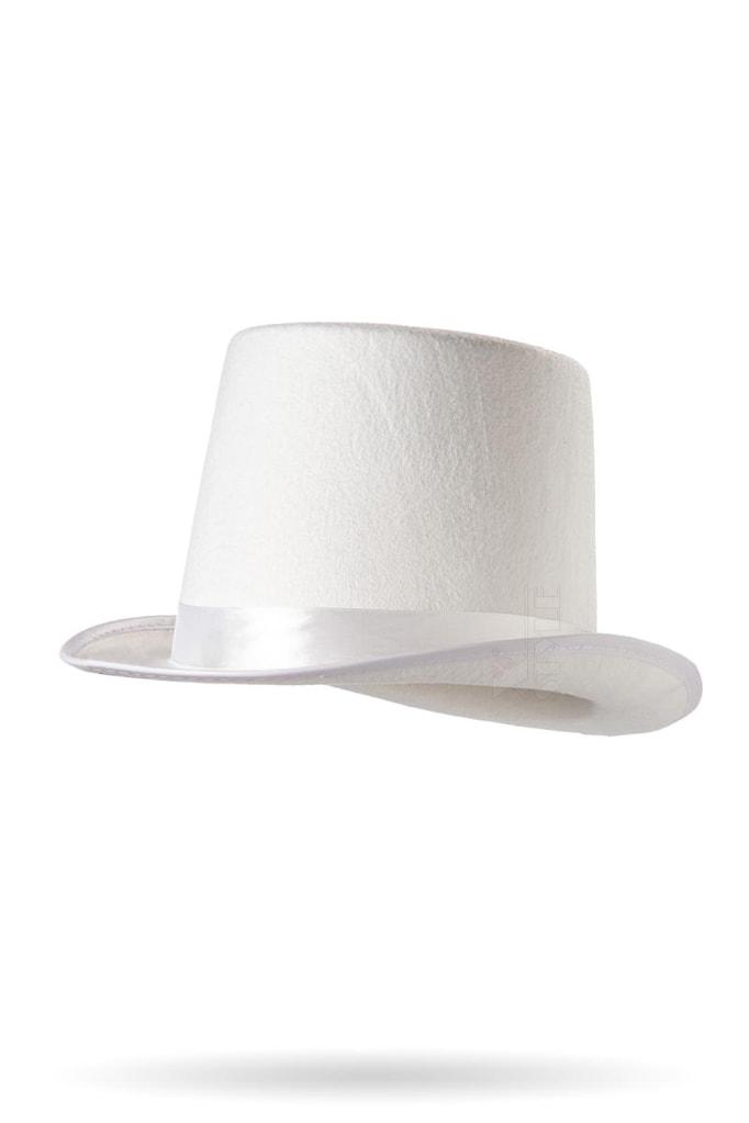 Белая шляпа-цилиндр CC1039