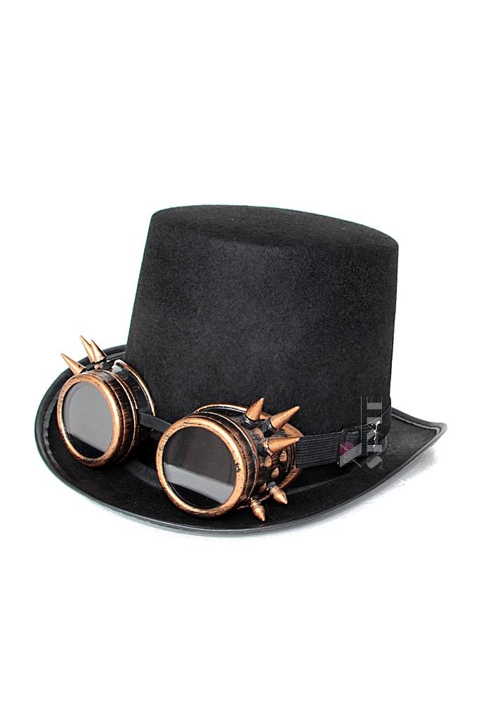 Шляпа-цилиндр с гогглами C1138, 5