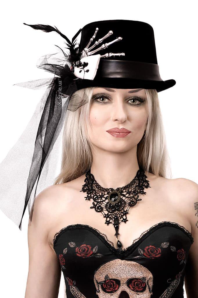 """Женская шляпа """"Рука скелета"""" XA143, 3"""