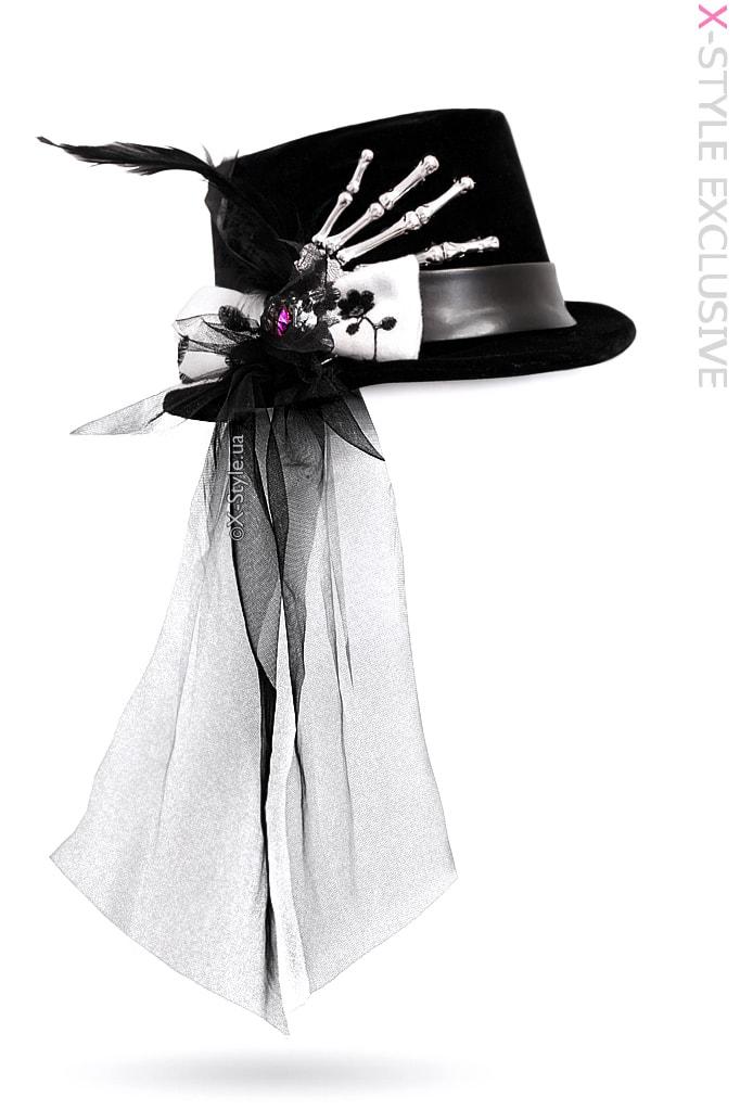 """Женская шляпа """"Рука скелета"""" XA143"""