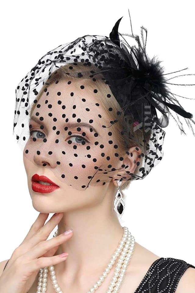 Вечерняя шляпка с вуалью Artistic, 3