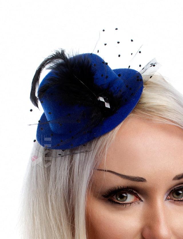 Синяя вечерняя шляпка X-Style, 3
