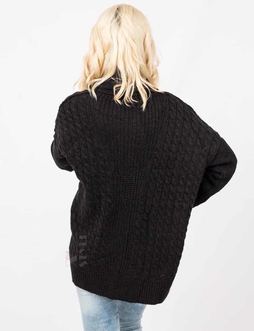 Женский черный кардиган XC4121, 5