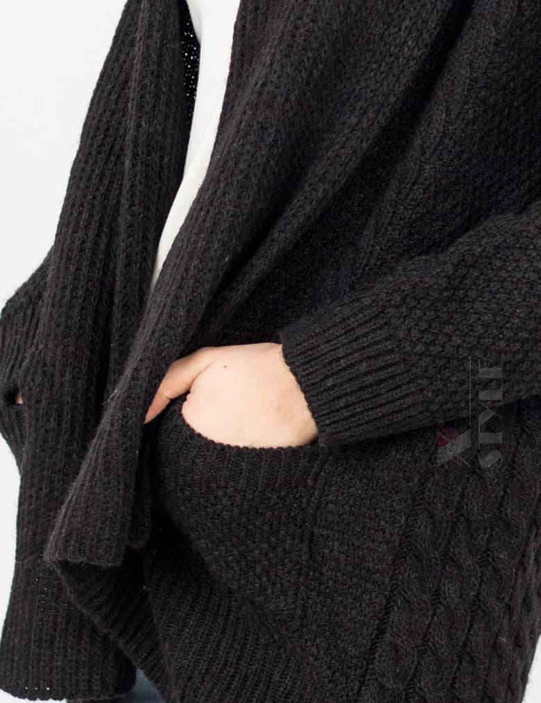Женский черный кардиган XC4121, 3