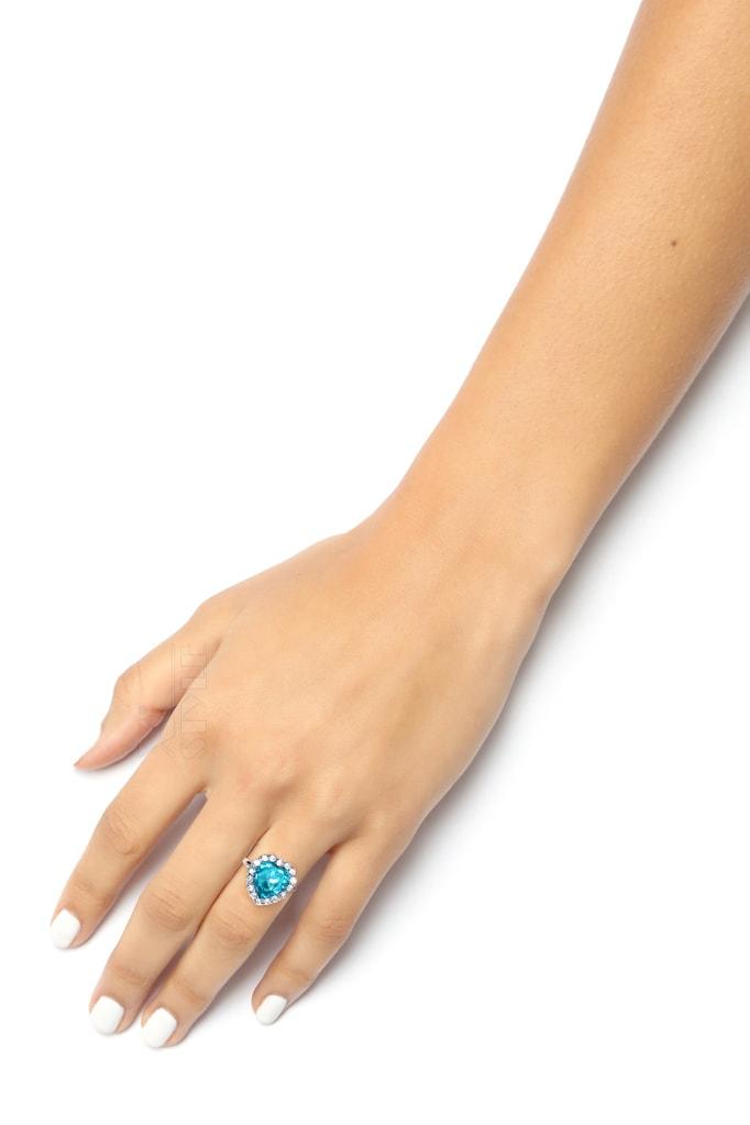 Кольцо с голубым камнем XJ8186, 7